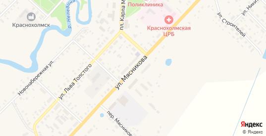 Улица Мясникова в Красном Холме с номерами домов на карте. Спутник и схема онлайн