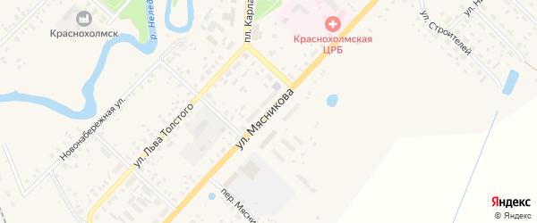 Улица Мясникова на карте Красного Холма с номерами домов
