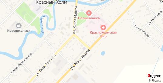 Переулок Карла Маркса в Красном Холме с номерами домов на карте. Спутник и схема онлайн