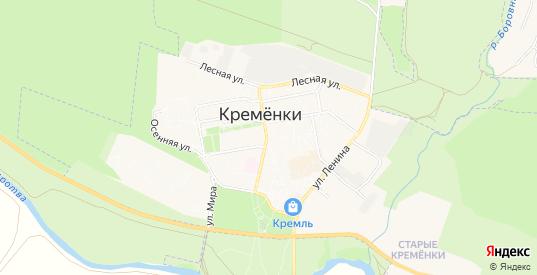 ГСК Боровна-10 НОГНПГК на карте Кременки с номерами домов