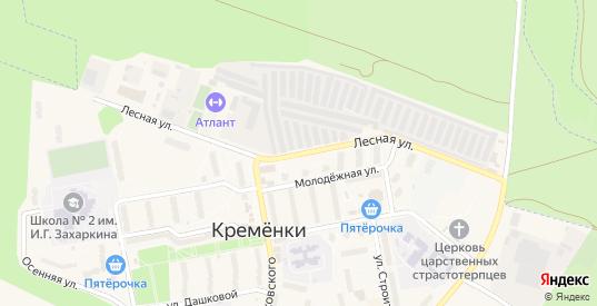 Лесная улица в Кременки с номерами домов на карте. Спутник и схема онлайн