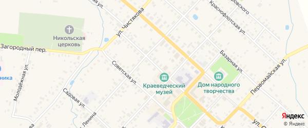 Коммунистическая улица на карте Красного Холма с номерами домов