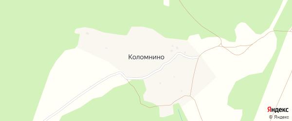 Полевая улица на карте деревни Коломнино Калужской области с номерами домов