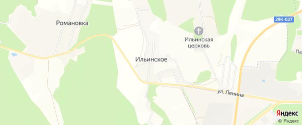 Карта деревни Ильинского в Калужской области с улицами и номерами домов