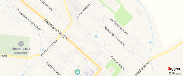 Базарная улица на карте Красного Холма с номерами домов