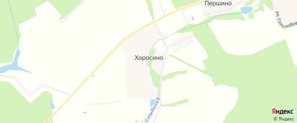 Карта деревни Хоросино города Чехов в Московской области с улицами и номерами домов