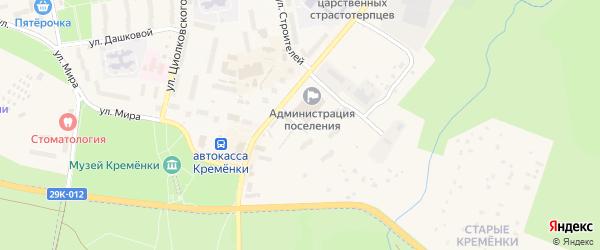 Солнечная улица на карте Кременки с номерами домов