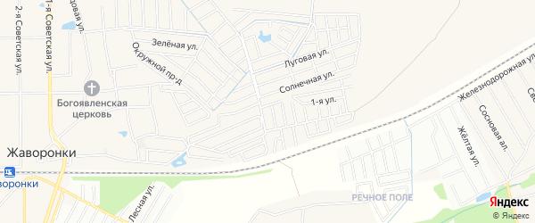Юбилейный ГСК на карте Одинцово с номерами домов