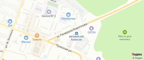 Шоссе Генерала Короткова на карте Алексина с номерами домов