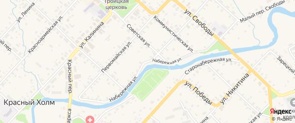 Набережная улица на карте Красного Холма с номерами домов