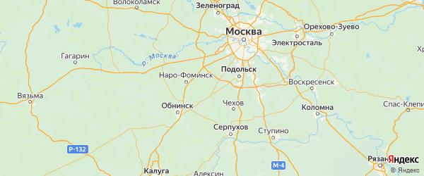 Карта Вороновского поселения города Москвы с городами и населенными пунктами