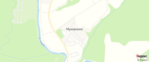 Карта деревни Муковнино города Чехов в Московской области с улицами и номерами домов