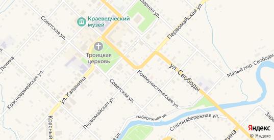 Первомайская улица в Красном Холме с номерами домов на карте. Спутник и схема онлайн