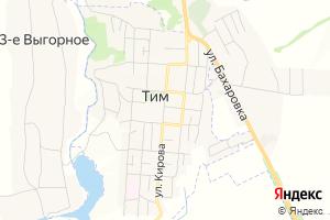 Карта пос. Тим Курская область