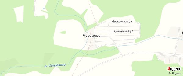 Карта деревни Чубарово города Чехов в Московской области с улицами и номерами домов
