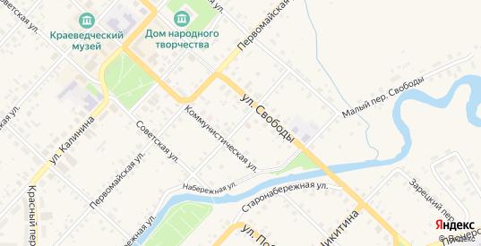 Переулок Свободы в Красном Холме с номерами домов на карте. Спутник и схема онлайн