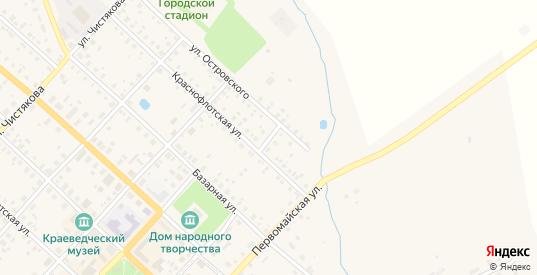 Переулок Островского в Красном Холме с номерами домов на карте. Спутник и схема онлайн