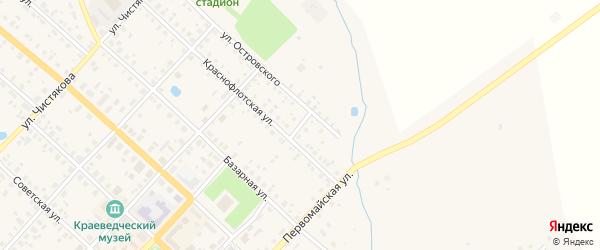 Переулок Островского на карте Красного Холма с номерами домов