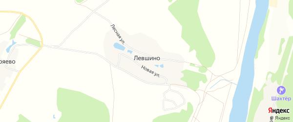 Карта деревни Левшино в Калужской области с улицами и номерами домов