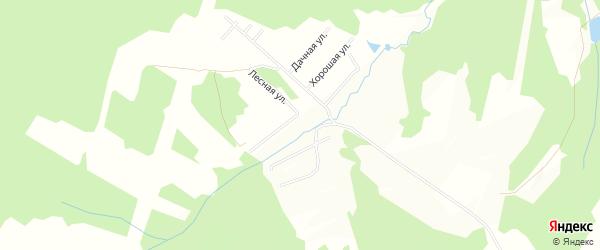 Карта территории Сдт Бортников в Калужской области с улицами и номерами домов