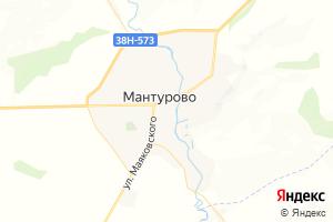 Карта пос. Мантурово Курская область