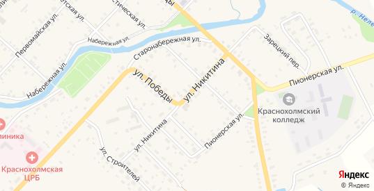 Улица Никитина в Красном Холме с номерами домов на карте. Спутник и схема онлайн