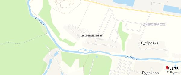 Карта деревни Кармашовка города Чехов в Московской области с улицами и номерами домов