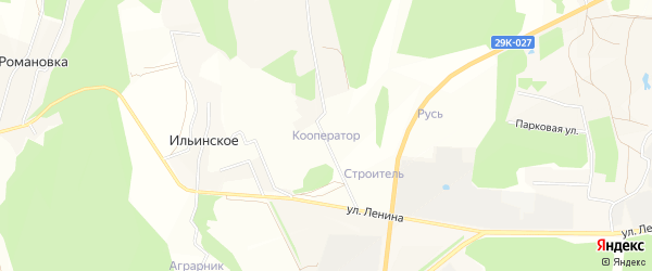 Территория Сдт Кооператор на карте Тарусского района Калужской области с номерами домов
