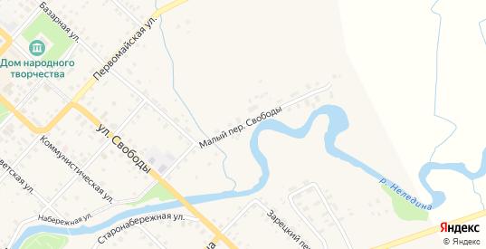 Свободы Малый переулок в Красном Холме с номерами домов на карте. Спутник и схема онлайн