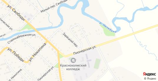 Пионерский переулок в Красном Холме с номерами домов на карте. Спутник и схема онлайн