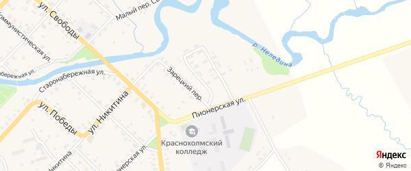 Пионерский переулок на карте Красного Холма с номерами домов