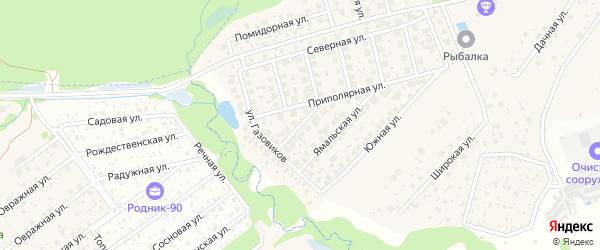 Уренгойская улица на карте хутора Брехово с номерами домов