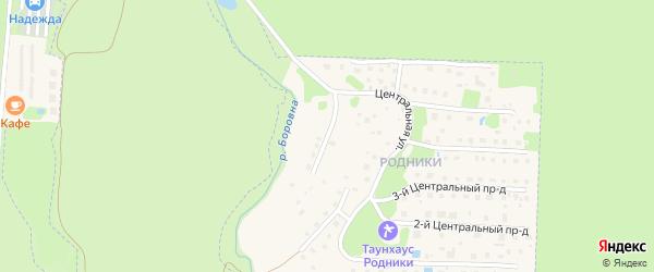 Улица Народного ополчения на карте Кременки с номерами домов