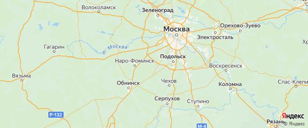 Карта Михайлова-Ярцевского поселения города Москвы с городами и населенными пунктами