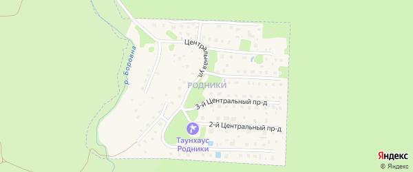 6-й Центральный проезд на карте микрорайона Родников с номерами домов