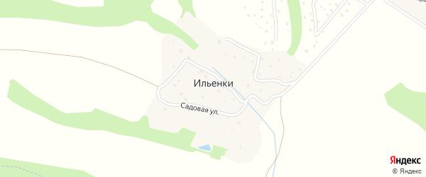 Хуторская улица на карте деревни Ильенки Калужской области с номерами домов