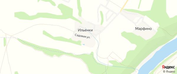 Карта деревни Ильенки в Калужской области с улицами и номерами домов