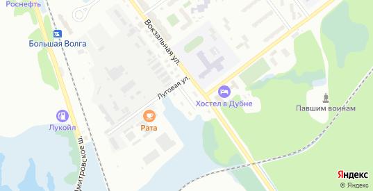 Железнодорожная улица в Дубне с номерами домов на карте. Спутник и схема онлайн