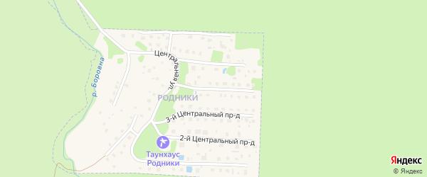 4-й Центральный проезд на карте микрорайона Родников с номерами домов