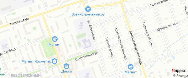 Улица Березняка на карте Дубны с номерами домов