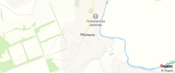 Карта села Малыни в Тульской области с улицами и номерами домов