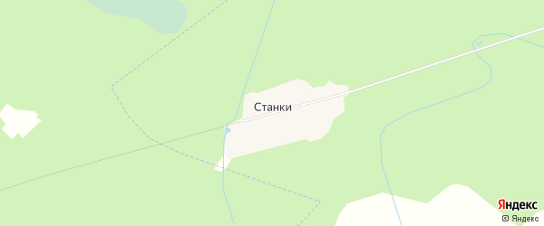 Карта деревни Станки в Московской области с улицами и номерами домов