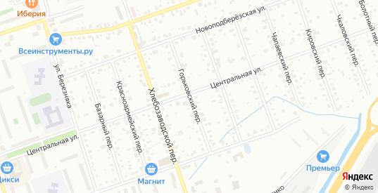 Горьковский переулок в Дубне с номерами домов на карте. Спутник и схема онлайн