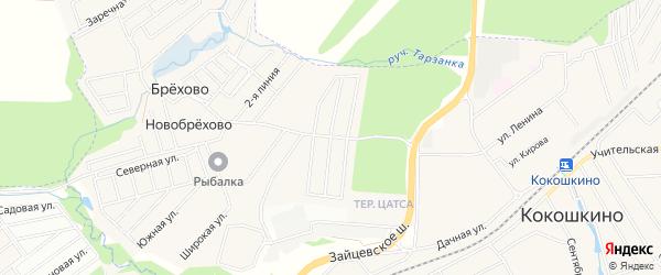 Садовое товарищество Дружба на карте поселения Кокошкино с номерами домов