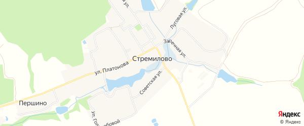 Карта села Стремилово города Чехов в Московской области с улицами и номерами домов