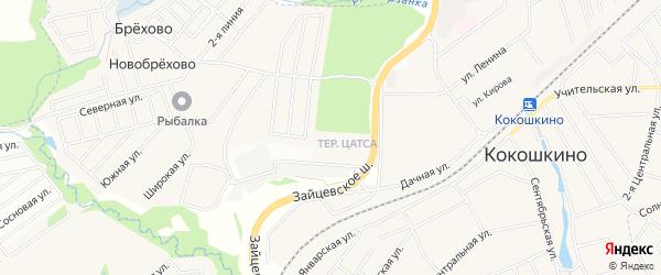 ГСК Старт 2 на карте поселка Кокошкино с номерами домов