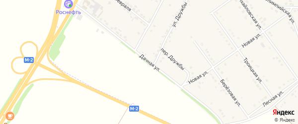 Дачная улица на карте села Подкопаевки с номерами домов