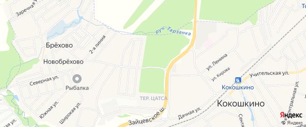 Квартал 15 на карте поселения Кокошкино с номерами домов