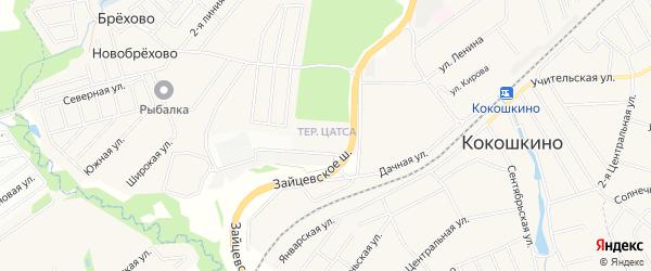 Квартал 14 на карте поселения Кокошкино с номерами домов