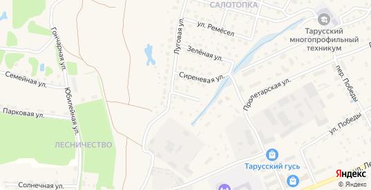 Огородный переулок в Тарусе с номерами домов на карте. Спутник и схема онлайн